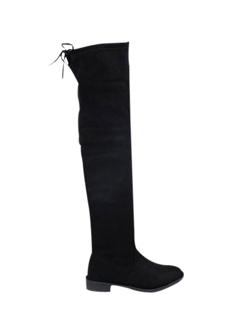 Fashion Flat Heel Suede Over The Knee Boots