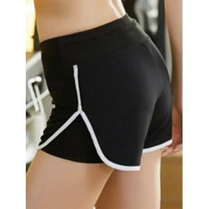 Elastic Multicolor Sport Running Shorts - WHITE XL