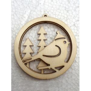 3PCS Wooden Hollow Out Christmas Hangers Party Decoration - WOOD