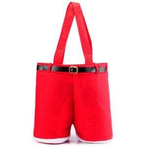 Christmas Red Wine Bag Candy Gift Bag - RED