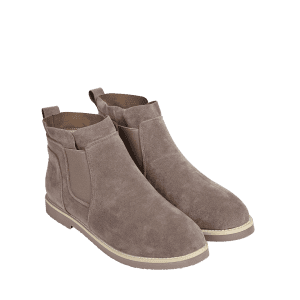 Elastic Band Suede Flat Ankle Boots -