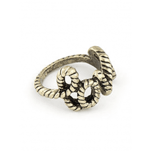 Chic English Word Love Shape Alloy Ring -