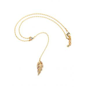 Vintage Leaf Long Style Necklace -