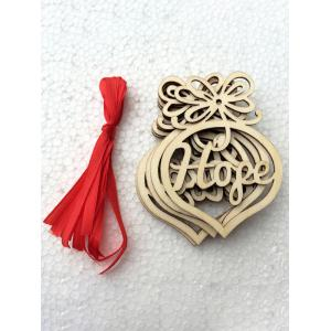 6PCS Wooden Hollow Out Hangers Christmas Decoration Supplies -