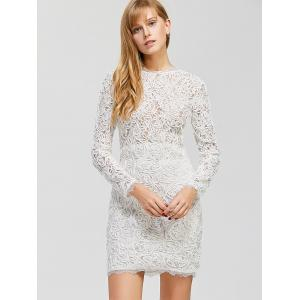 Fitted Mini Lace Dress -