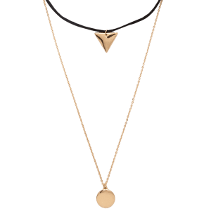 Multilayered Geometric Charm Choker Necklace -