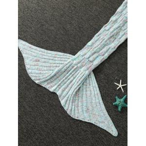 MIXCOLOR évider tricotée Mermaid Blanket -
