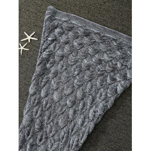 Glands Agrémentée Multipurpose tricotée Mermaid Blanket -