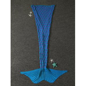 Brisé Blanket trou tricoté Mermaid For Kids - Bleu Vert
