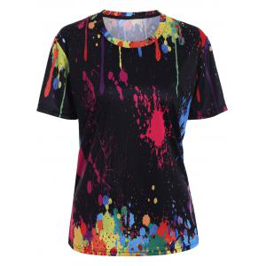 Splatter Paint Printed Tee