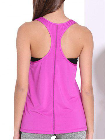 Shop Sporty U Neck Racerback Solid Color Top For Women
