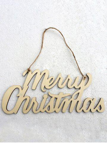 Fancy Wooden Merry Christmas Letter Hangers Party Decoration - WOOD  Mobile