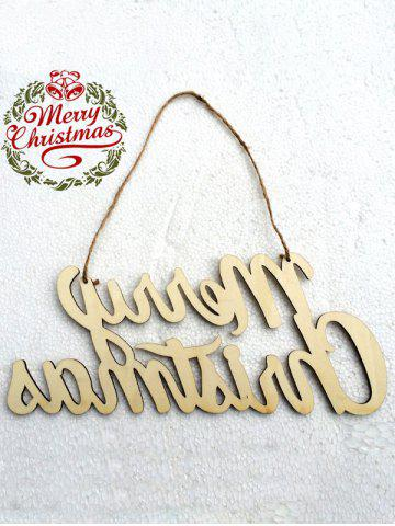 Outfits Wooden Merry Christmas Letter Hangers Party Decoration - WOOD  Mobile