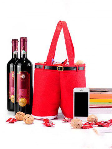Affordable Christmas Red Wine Bag Candy Gift Bag RED