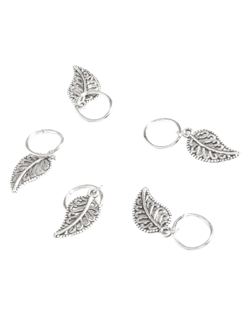 Chic 5 PCS Leaves Hair Accessory - SILVER  Mobile