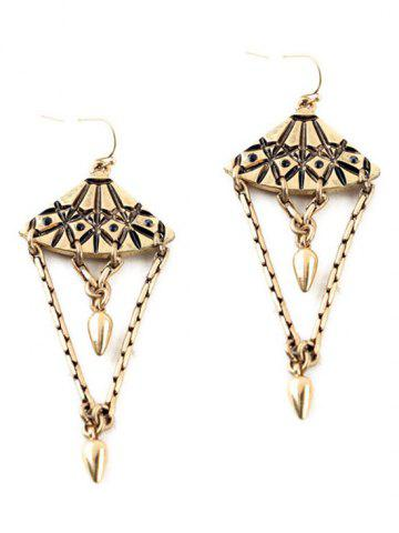 Fashion Pair of Vintage Alloy Bullet Drop Earrings