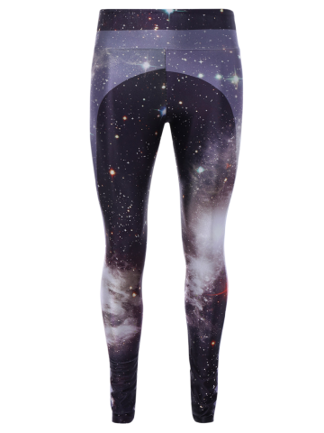 Affordable 3D Starry Sky Print Skinny Gym Leggings COLORMIX ONE SIZE