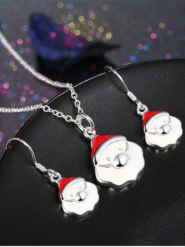 New Christmas Santa Claus Polished Jewelry Set