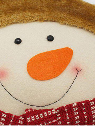 Outfits Christmas Decoration Snowman Star Pillow - WHITE  Mobile