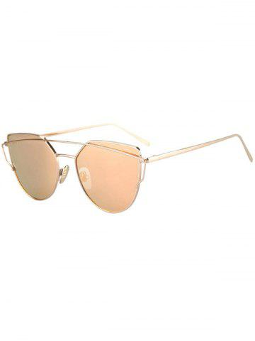 Latest Fashion Metal Bar Golden Frame Pilot Sunglasses For Women - GOLDEN  Mobile