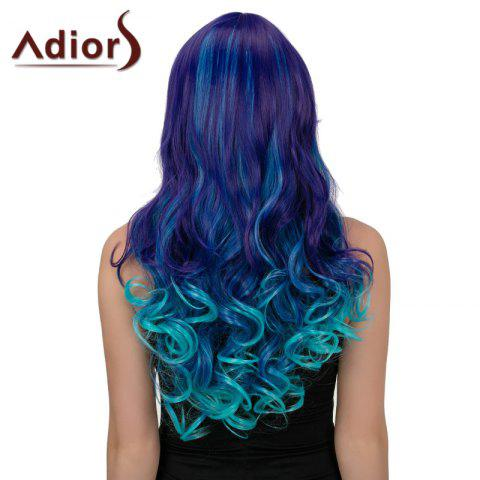 Shop Adiors Hair Long Side Part Wavy Synthetic Cosplay Wig - BLUE + PURPLE  Mobile