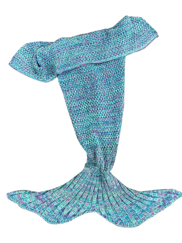 Discount Stylish Knitted Mermaid Baby Blanket - COLORMIX  Mobile