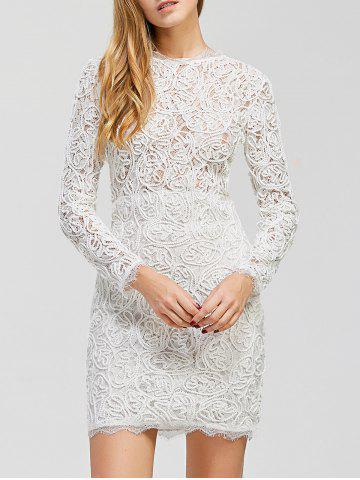 Cheap Fitted Mini Lace Dress