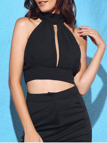Store Cut Out Sleeveless Crop Top
