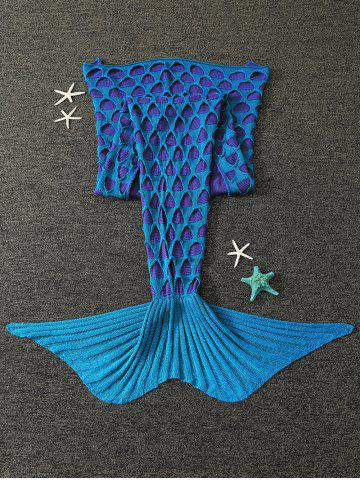 Store Broken Hole Knitted Mermaid Blanket For Kids