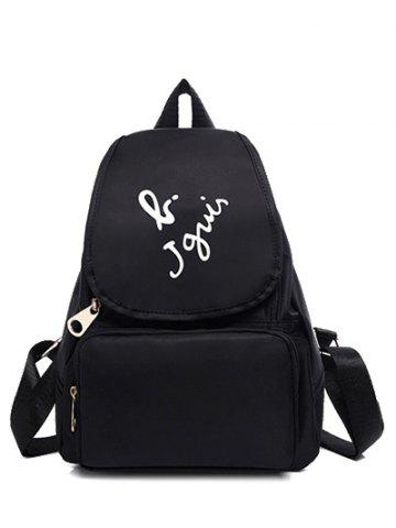 Outfit Leisure Letter Print and Nylon Design Satchel For Women