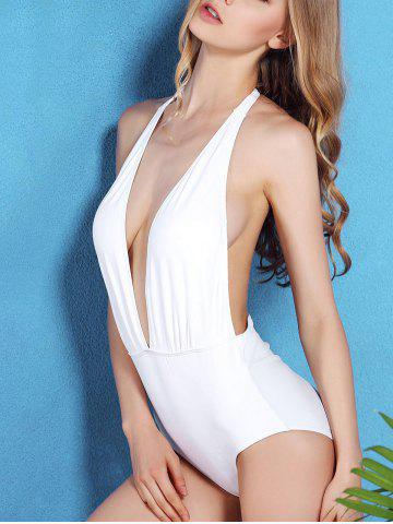 Shops Plunge Halter Shaping One Piece Swimsuit