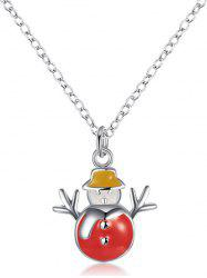 Christmas Snowman Enamel Pendant Necklace