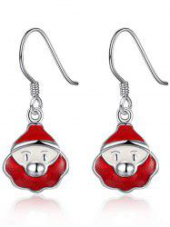 Santa Claus Enamel Christmas Dangle Earrings