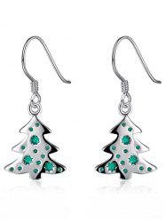 Christmas Tree Enamel Dangle Earrings