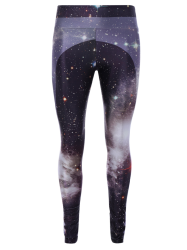 3D Starry Sky Print Skinny Gym Leggings - COLORMIX