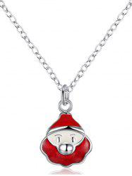 Christmas Santa Claus Enamel Pendant Necklace