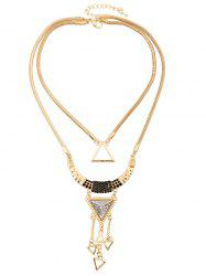 Triangle Hollow Pendant Necklace -