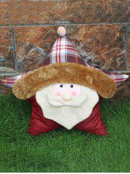 Santa Claus Star Pillow Christmas Party Decor - WHITE