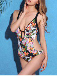 Cami Floral Cut Out One-Piece Swimwear