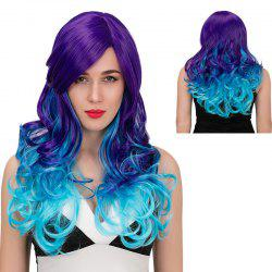 Adiors Long Side Parting Color Mix Wavy Synthetic Wig