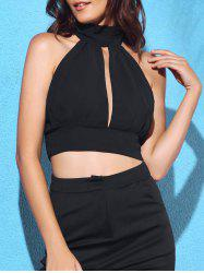 Cut Out Sleeveless Crop Top -