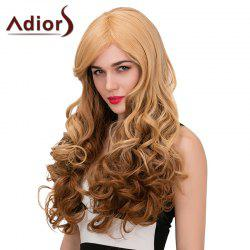 Adiors Long Side Parting Fluffy Wavy Color Mix Synthetic Wig