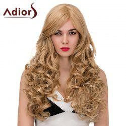 Adiors Long Side Part Shaggy Wavy Synthetic Wig
