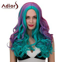 Adiors Long Middle Parting Colored Curly Synthetic Cosplay Wig