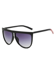 Streetwear Color Block Jambe Sunglasses - Noir