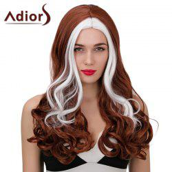 Adiors Middle Part Long Highlight Wavy Synthetic Wig