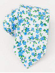 Wedding Party Floral Tie - AZURE