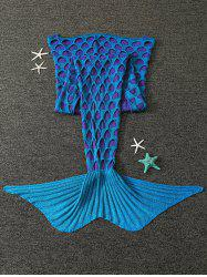 Broken Hole Knitted Mermaid Blanket For Kids -