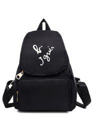 Leisure Letter Print and Nylon Design Satchel For Women -