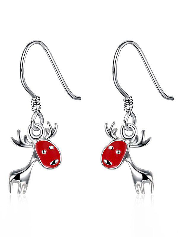 Enamel Christmas Deer Drop EarringsJEWELRY<br><br>Color: RED; Earring Type: Drop Earrings; Gender: For Women; Metal Type: Alloy; Style: Noble and Elegant; Shape/Pattern: Others; Length: 2.6CM; Weight: 0.0220kg; Package Contents: 1 x Earrings (Pair);